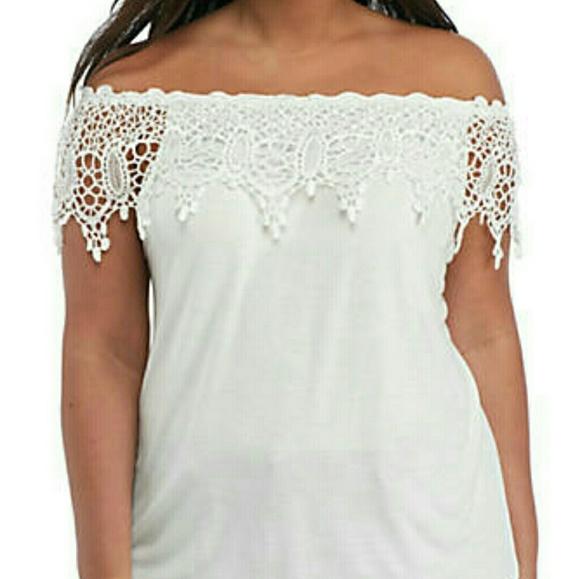 1X-3X LEEBE Plus Size Off Shoulder Sweater Knit Top